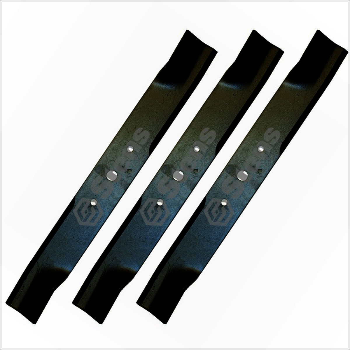 Mower Blades By Size : Set of gravely hi lift blade repl  fits