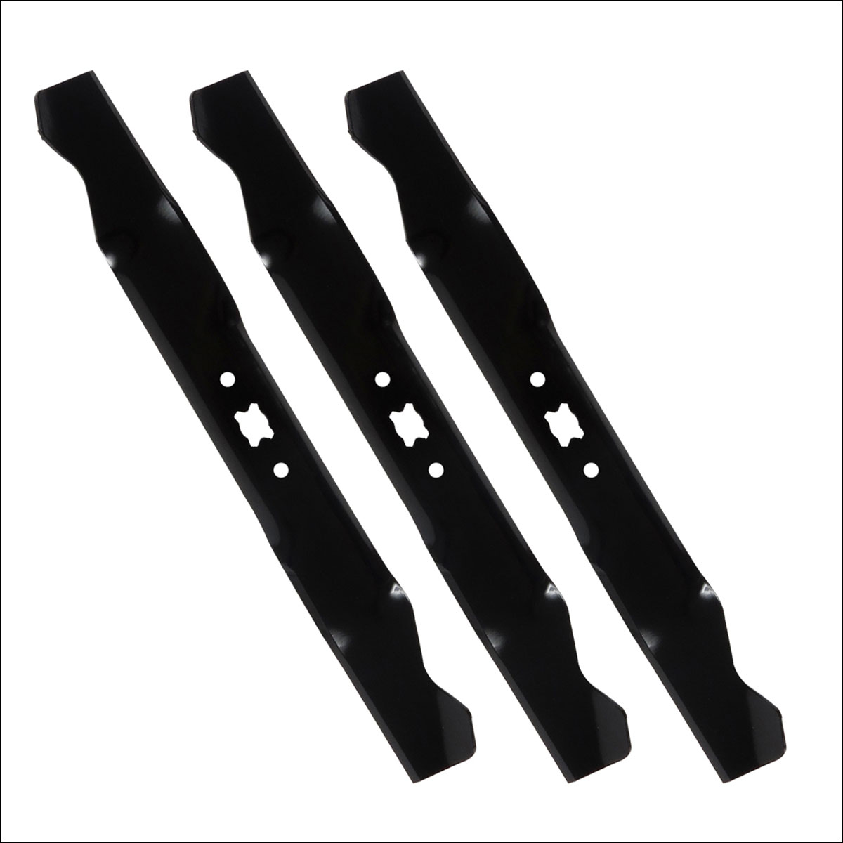 Mower Blades By Size : Pack cub cadet quot mulch blades for push lawn