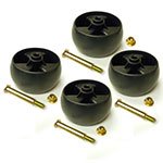 Deck wheel kit for Cub Cadet RZT 50 - Includes 4 wheels & hardware - 734-04155