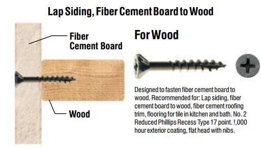 Fiber Cement Board Screws 8x1 1 4 Quot Type 17 Pt Flat Head