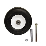 72460026 Wright Manufacturing Wheel Assy, 11X400-5 Reliance, Black