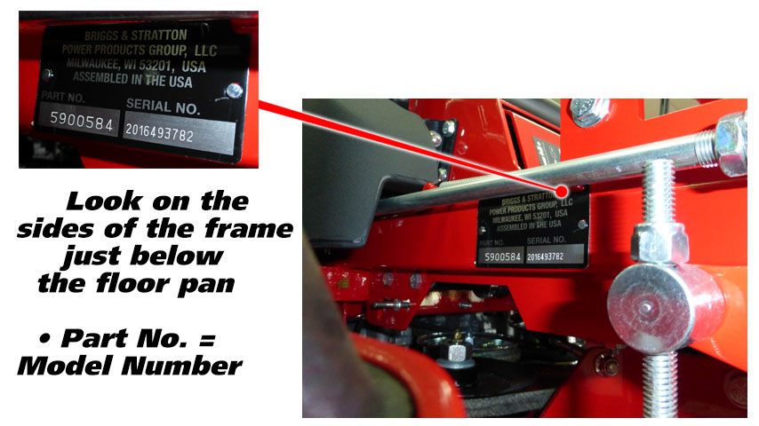 Find Your Snapper Mower Model Number | Power Mower Sales