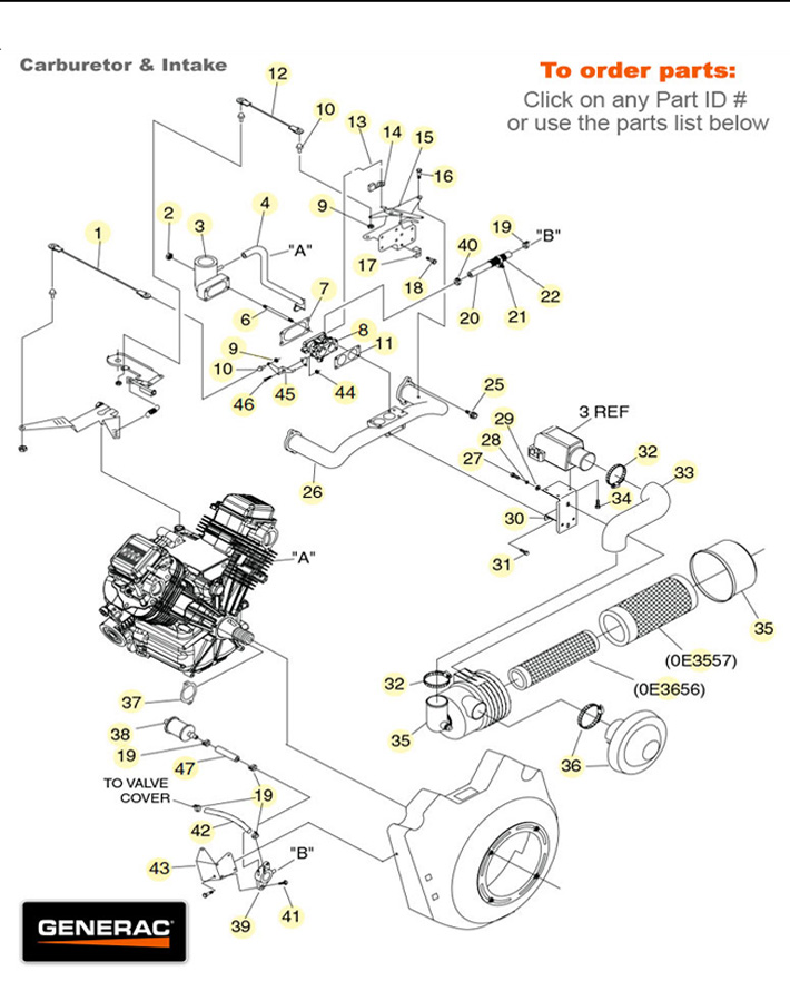 Generac Engine Parts Diagram