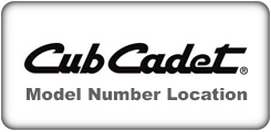 Cub Cadet Power Equipment Model and Serial Number