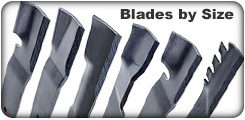 Lawn Mower Blades by Size