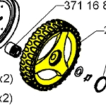 Husqvarna Wheel Assembly 295708301
