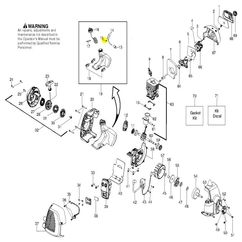 Husqvarna Fuel Line Fitting 530023877 Manual Guide