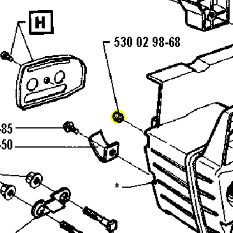 Husqvarna Vent Fuel Tank 3641 530029868