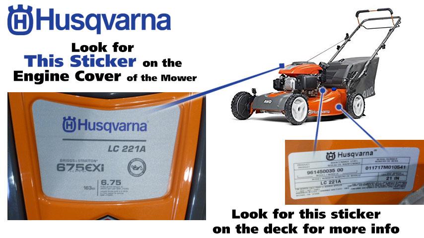 Find Your Husqvarna Model Number | Power Mower Sales