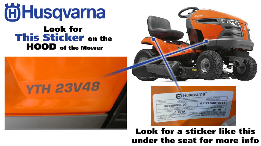 Find Your Husqvarna Model Number | Power Mower Sales