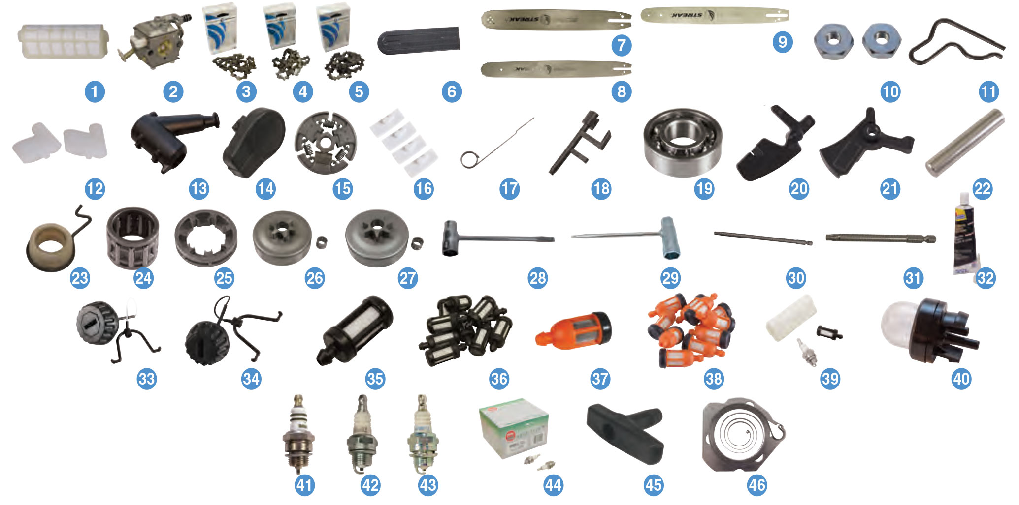 stihl ms  chainsaw parts reference guides power mower sales