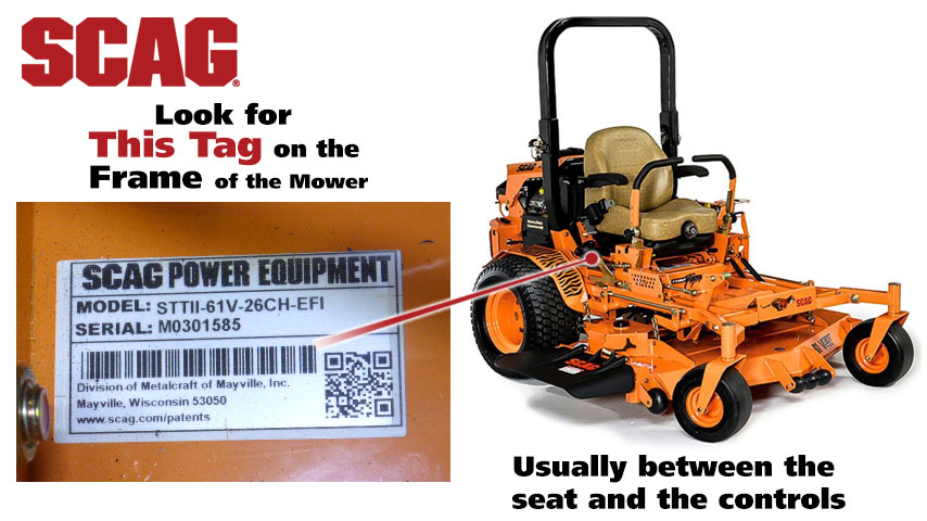 Find Your Scag Mower Model Number | Power Mower Sales