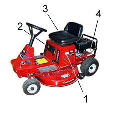 Toro Riding Mowers - Rider, Rear Engine