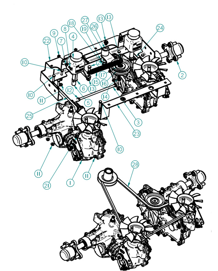 Dixie Chopper 2013 Zee 2 Mower Drive System Parts