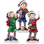 Set of 3 Christmas LED Pixie Elves - 36