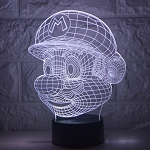 3D LED Nintendo Super Mario Touch Sensor Lamp with USB 7 Color Change Night Light Desk Bedroom Decor Gift Holiday Kids