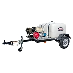 4200 PSI Pressure Washer Trailer System - Cold Water GX390 - 150 gal tank, 2000 lb axle w/ 100' Hose
