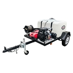4200 PSI Pressure Washer Trailer System - Cold Water 479cc Vanguard Electric Start  - 150 gal tank, 2000 lb axle w/ 100' Hose