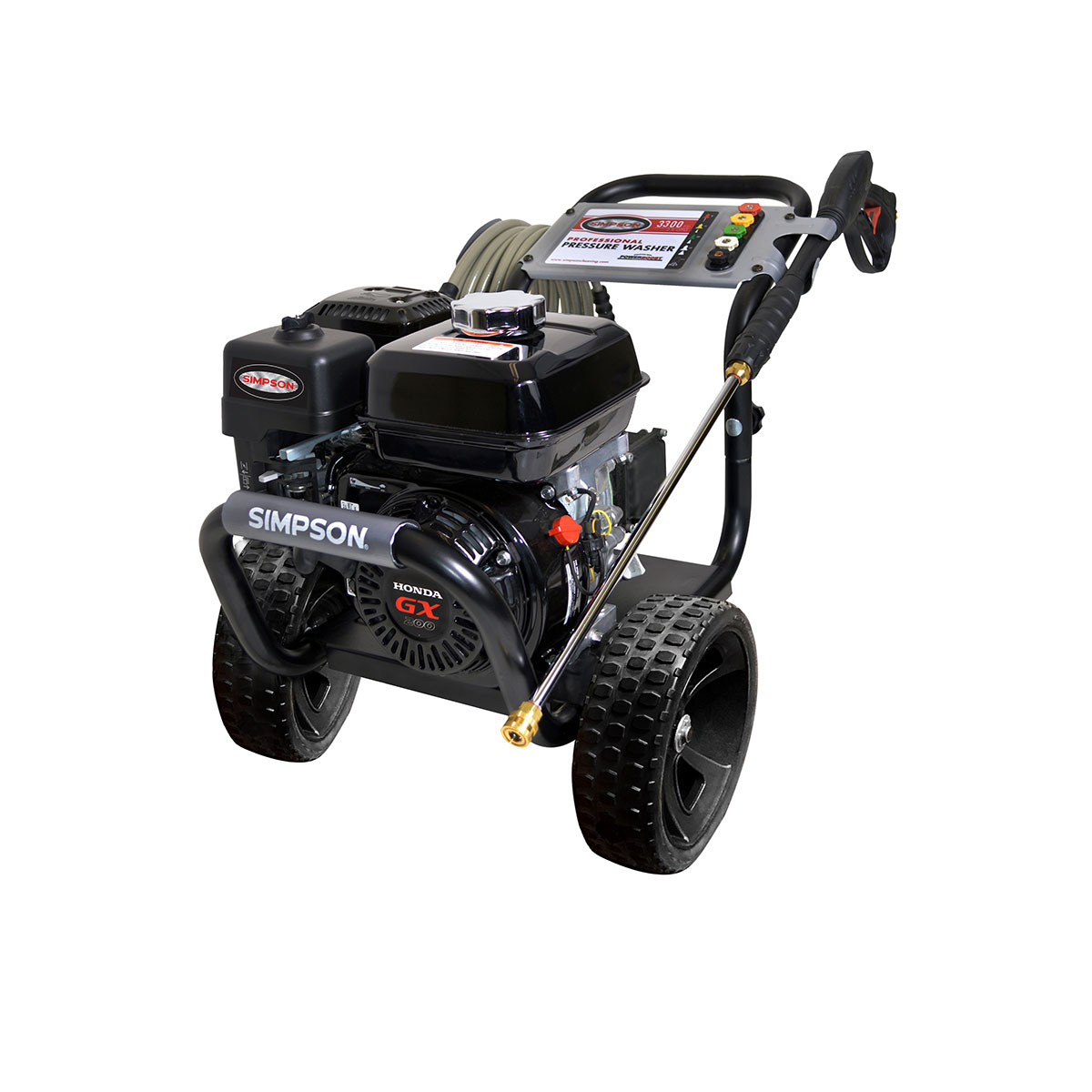 3200 PSI Powershot Series - Commercial Direct Drive Pressure Washer with a Honda GX200 engine and a 25' hose - PS3228-S