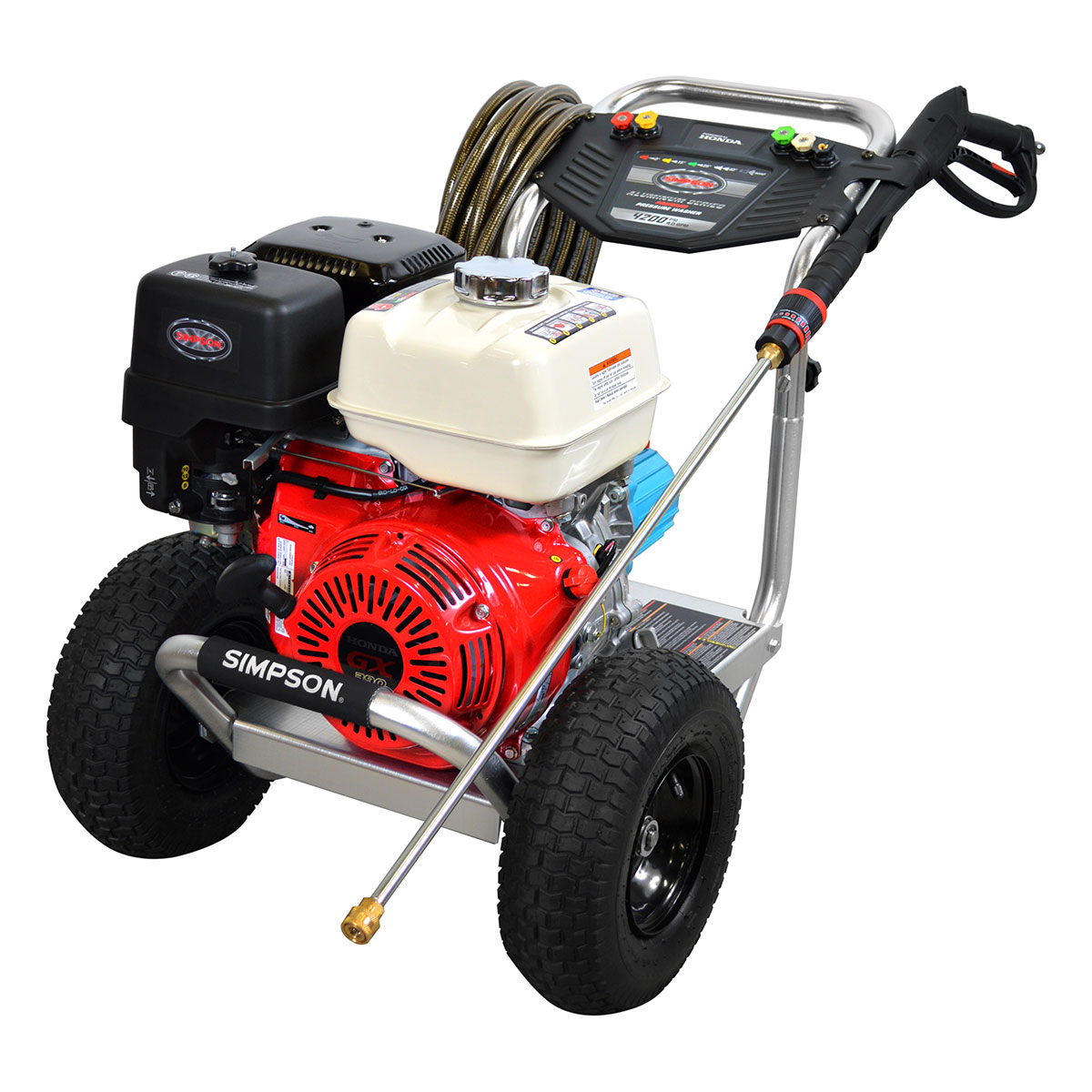 4200 PSI Aluminum Series - Commercial Direct Drive Pressure Washer with a Honda GX390 engine and a 50' hose - ALH4240