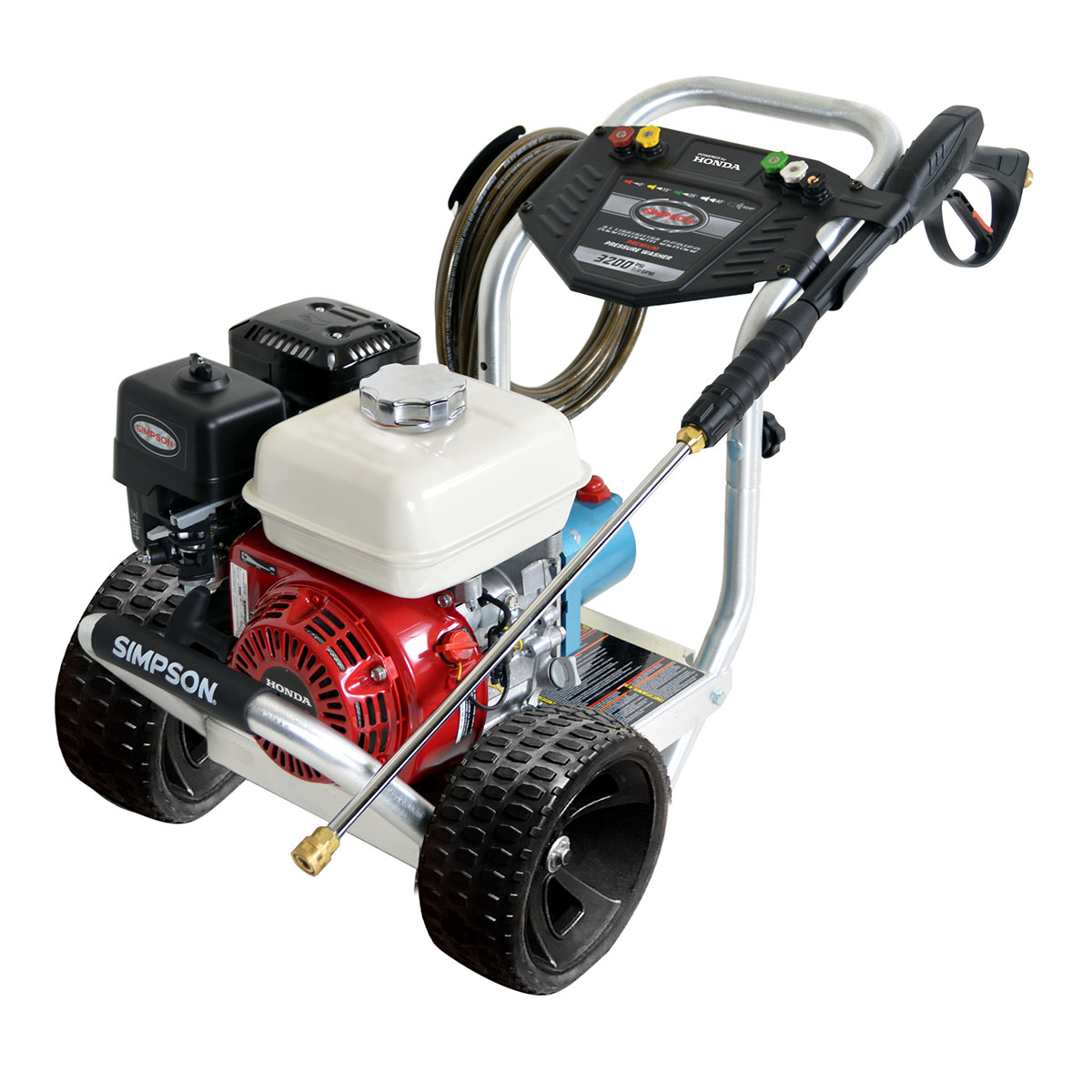 3200 PSI Aluminum Series - Commercial Direct Drive Pressure Washer with a Honda GX200 engine and a 25' hose - ALH3228-S