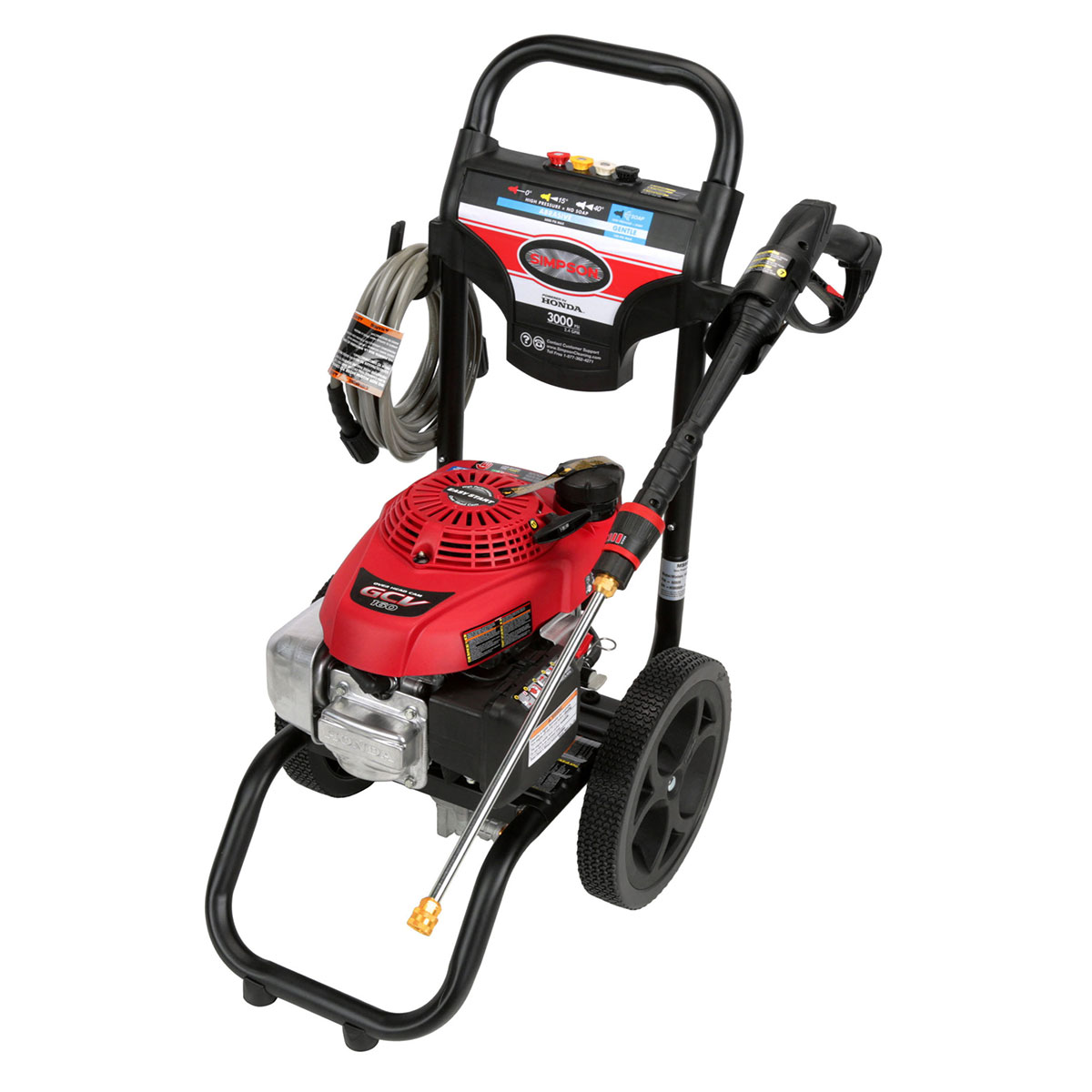 3000 PSI Megashot Premium Residential Series Pressure Washer with a Honda GCV160 engine and a 25' hose - MS60809-S