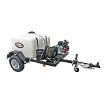 4000 PSI Pressure Washer Trailer System - Cold Water GX270 - 150 gal tank, 2000 lb axle w/ 100' Hose