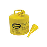 Metal Safety Diesel Can / Eagle 5 Gallon With Funnel