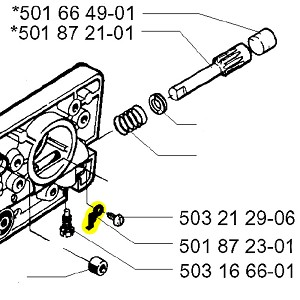 Husqvarna Locking Spring 501872301