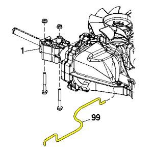 Husqvarna Rod Assembly Bypass Spring T2.FS 532408418