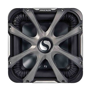 Kicker L7S Series 10-Inch Subwoofer with Aluminum Grille, 4-Ohm 600W RMS for Marine - 44L7S104, 08GL710