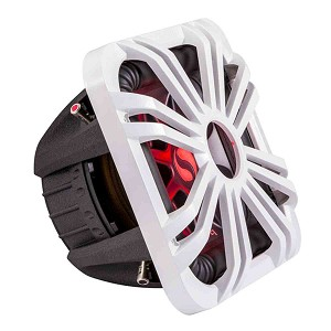 Kicker Solo-Baric L7S Series 12-Inch Subwoofer with White LED Grille, Dual 2-Ohm Voice Coil, 750W / 44L7S122, 11L712GLW