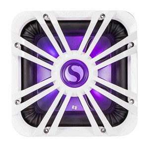 Kicker Solo-Baric L7S 10-Inch Subwoofer with White LED Grille 2-Ohm 600W - 44L7S102, 11L710GLW