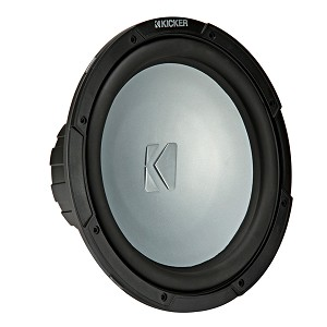 "Kicker 10"" Marine Weather-Proof Subwoofer 2-Ohm 350W - 45KM102"