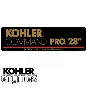24 113 143-S ? 30 HP Kohler Label